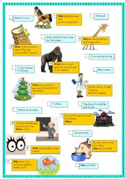 English Worksheets: Jokes and Question Words
