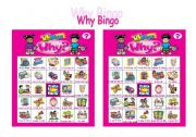 English Worksheets: WHY Bingo