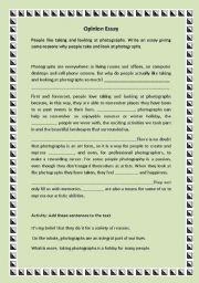 English Worksheets: Taking and looking at photographs.