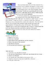 English Worksheets: Nessie