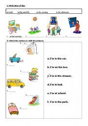 English Worksheets: Basic sentences
