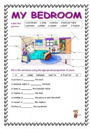 The Bedroom Worksheets