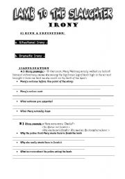 english teaching worksheets irony. Black Bedroom Furniture Sets. Home Design Ideas