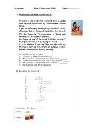 English Worksheet: Final written exam- Happy Street 2