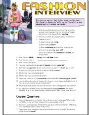 Real-life Interview Questions about Fashion (intermediate)