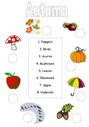 english worksheets match up autumn worksheet - Fall Worksheets For First Grade