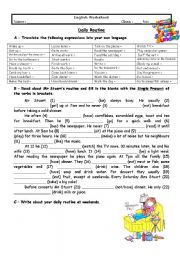 English Worksheets: Adults� daily routine