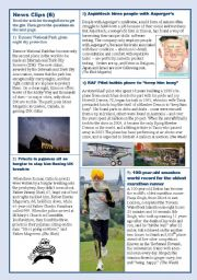 English Worksheet: Some more recent news clips (6)