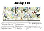 English Worksheet: JOSIE BUYS A PET - short story