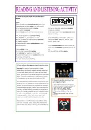 English Worksheet: Pearl Jam