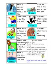 English Worksheets: Action Clues