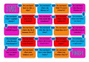 Noun Clause with Question Word Do You Know...Board Game *Fully Editable*