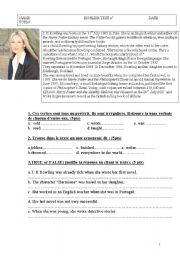 English Worksheets: JK ROWLING biography