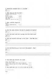 English Worksheets: Film analysis