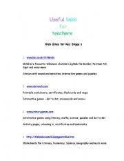 English Worksheets: Useful Links for Teachers