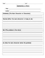 English Worksheets: Summary Using SWBS