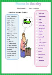 English Worksheet: Places in the city  - worksheet 2