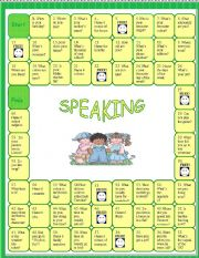 Speaking activity -Revision board game - 6th form