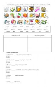 English Worksheet: FOOD SOME ANY MUCH MANY EXERCISES