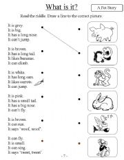 English Worksheets: What is it? (Animals)