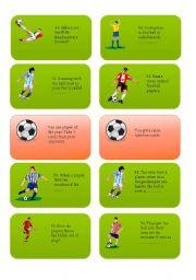 English Worksheet: FOOTBALL /SOCCER CARD GAME PART 4