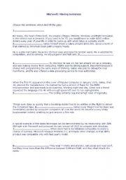 English Worksheets: Missing Sentences