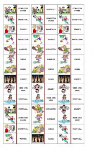 English Worksheet: DOMINOES GAMES AND SPORTS