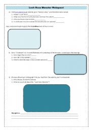 English Worksheet: Loch Ness monster webquest