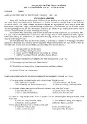 10th grade worksheets