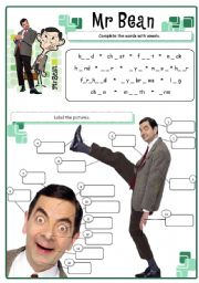 English Worksheet: Mr Bean - body parts