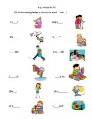 Esl Kids Worksheets I Can