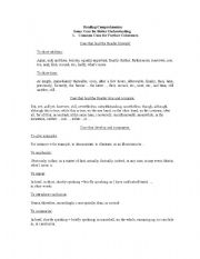 English Worksheets: Reading Comprehension - Cues for better understanding