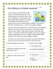 English Worksheets:  adjective  reading  comprehension