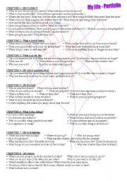 English Worksheets: My life