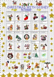 English Worksheet: Christmas with Disney characters