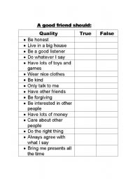 English Worksheets: good qualities