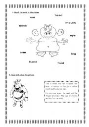 English Worksheets: THE BODY AND FACE