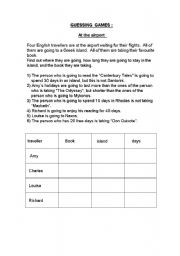 English Worksheets: Guessing games