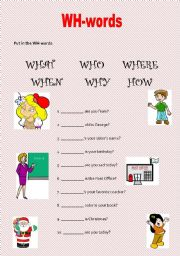 Question words exercises