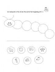 English Worksheets: Beginning Sound C