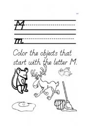 English Worksheets: M word