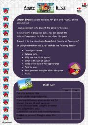 English Worksheets: Angry Birds