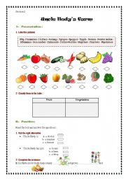 English Worksheet: uncle Hedy�s farm
