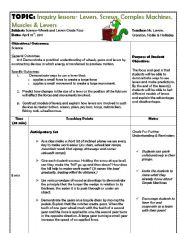 English Worksheets: Levers Inquiry Lesson