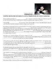 English Worksheet: Halloween vampires worksheet