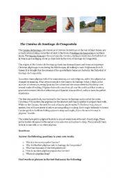 English Worksheets: The Camino de Santiago (The Pilgrims´ Way to Santiago)