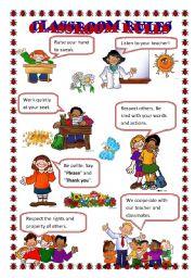 English Worksheet: Classroom Rules