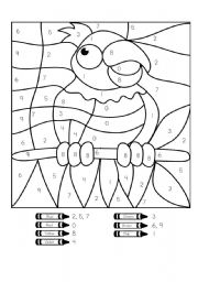 ... - Worksheet Parrots Skip Counting Activity Sheets For Lkg Picture