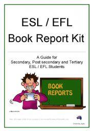English worksheet: Book Report Kit
