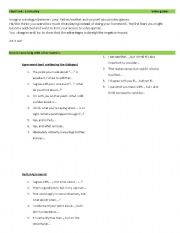 English Worksheet:  role play on video games